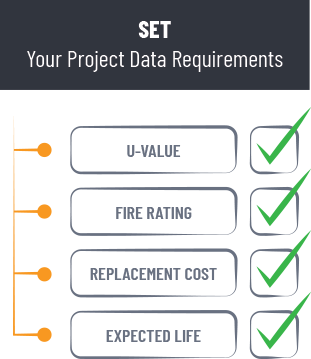set your project data requirements