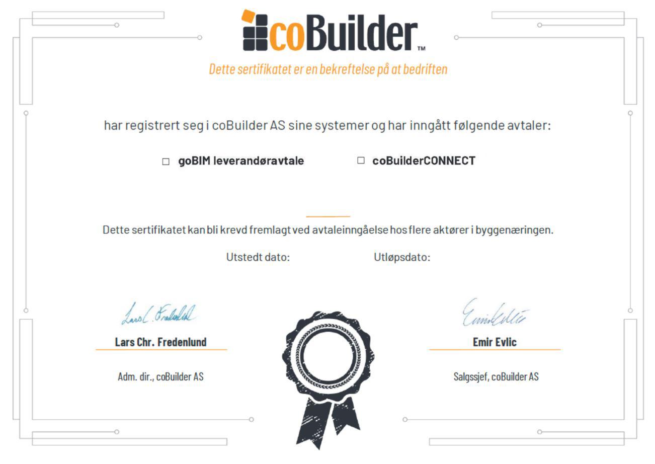 goBIM Cobuilder CONNECT Sertifikat